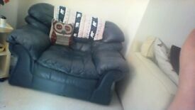 Lovely comfy leather 2 seater and armchair