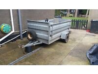 Galvanised livestock trailer 8x4