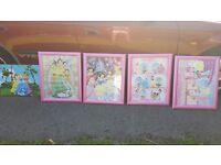 Disney princes pictures pink frames