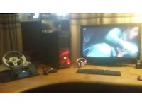 GAMING PC AMD 8350 4 GHZ BLACK EDITON ASUS STRIX GTX 960 DX 12 2GB 8 GB RAM Corsair 250 gb SSD