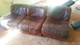 Vintage leather chairs/settee