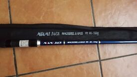 """""""Miami Jack"""" 9 foot, 2 piece Bass and Mackerel fishing rod. Rated 80 - 150g"""