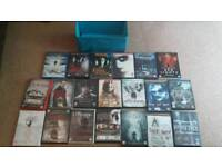 Joblot of 20 dvds and holder