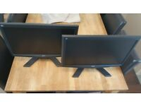 "Two Acer X203H Monitors 20"" VGA"