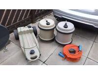 2 Aqua roll water containers. 1 waste water carrier . 1 25meter electric cable for sale