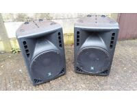 """A Pair of S&T Audio Powered 15"""" PA System Speakers"""