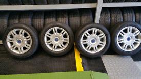 Fiat Genuine 16 alloy wheels + 4 x tyres 205 55 16