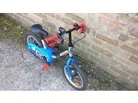 Kid's bike 14' wheel ages 4-6 years old