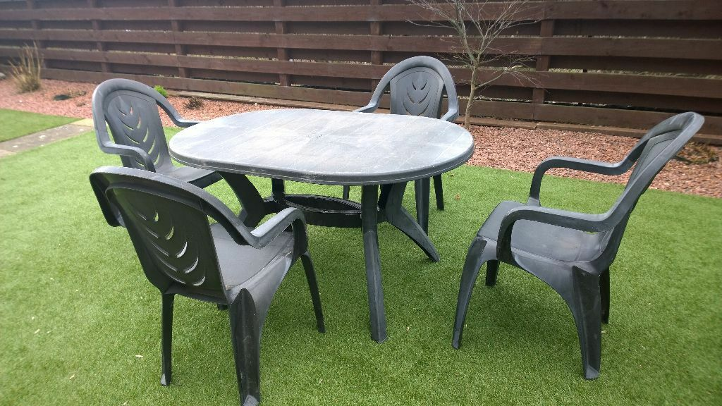 dark grey plastic garden furniture set - Garden Furniture Edinburgh