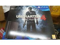 Brand NEW boxed SLIM PS4 500gb with Uncharted 4