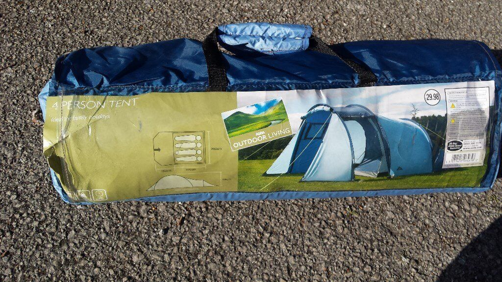 Unused Asda 4 person tent for sale. RRP = £29.99 but Sale price = £10