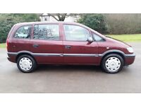 1 OWNER***VAUXHALL ZAFIRA 1.6cc LIFE***7 SEATER**LONG MOT**LOW MILEAGE**HPI CLEAR**AIRCON**CLEAN CAR