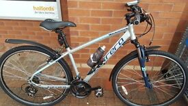 17' carrera crossfire hybrid mens bike