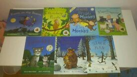 7 Julia Donaldson books.