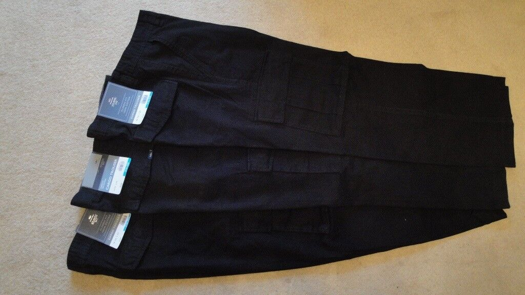3 PAIRS of BRAND NEW COTTON CARGO TROUSERS (ATLANTIC BAY)