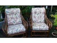TWO MATCHING CONSERVATORY CHAIRS