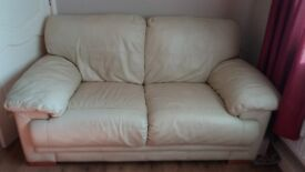 3+2 seater leather sofa.s had use but still good condition £100