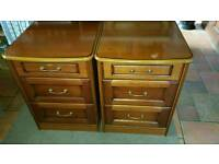 Two bed side cabinets /drawers.