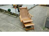 Classic older style deck chair