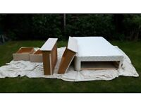 King Size Matteress and Divan Base with 4 Drawers