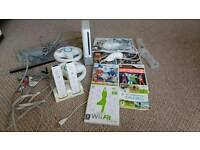 Nintendo wii almost new + 8 games