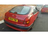 I want to.buy Toyota corolla 1.3 5 door starlet 5 door Nissan micra almera upto1999