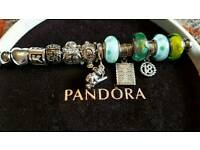 Genuine Pandora charms clips & dangles