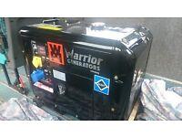 Warrior generator, diesel, silent, two years warranty, brand new, 4.6 KW