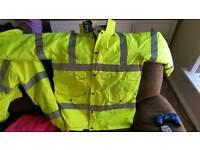 Hi vis work jacket