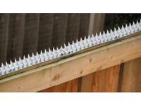 X6 BRAND NEW GREY PLASTIC SPIKE STRIPS – SECURITY,ANTI CLIMB, BIRDS,CATS DETERRENT.WALLS,BALCONY ECT