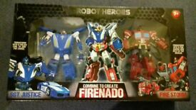 Brand new in box robot hero's