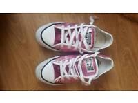 Women's Sequin Pink Converse size 4