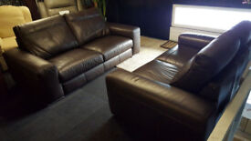 SISI ITALIA BROWN PREMIUM LEATHER LARGE 3+2 SEATER