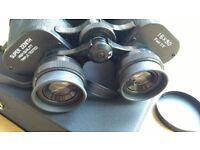 Unused New Zenith Binoculars 16x50 3.5 Degree Field Glasses, Japan, Leather Case & Straps, Coated