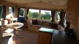 Static Caravan for sale, privately owned beautiful pitch, superb location at Wemyss Bay holiday park