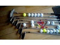 Set of Seven Wilson Reflex Golf Clubs with quantity of balls and tees