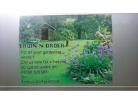 Lawn n order, professional gardening services