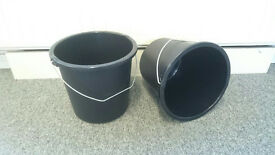 Black 10 litre buckets 200 in Total - never used - sold in 6's or 200 - Exeter