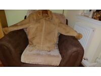 Original Antartex sheepskin bomber jacket