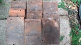 Old clay roof tiles