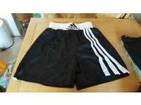 Adidas boxing shorts and vest