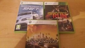 3 XBOX 360 RACING GAMES