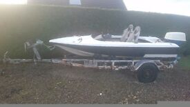 14' speed boat and traler