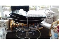 Vintage Silver Cross Pram with Extras.