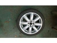 Mini S Spoke Alloy Wheel and Tyre