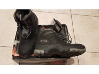 NEW, UNUSED, STILL BOXED. Mens UK size 8 Walking hiking boots, high ankle shoes.