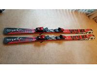 Volkl Unlimited AC Mens Carving Downhill Skis, adjustable Marker Bindings, and Ski Bag