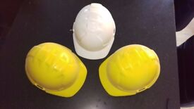 Hard hats - white and yellow