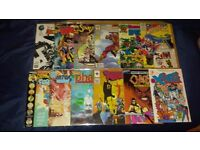 AVAILABLE IF LISTED. 12 x NUMBER 1 COMICS. New Sleeves. INTERFACE etc. All in Very Good Condition.