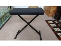 Foldable piano stool